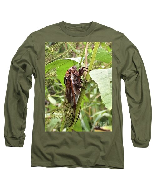 Colorful Summer Cicada Long Sleeve T-Shirt
