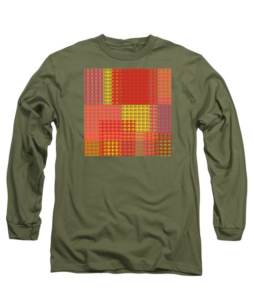 Colorful Weave Long Sleeve T-Shirt by Bonnie Bruno