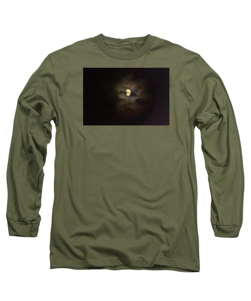 Long Sleeve T-Shirt featuring the photograph Colorfull Moon by Ramona Whiteaker