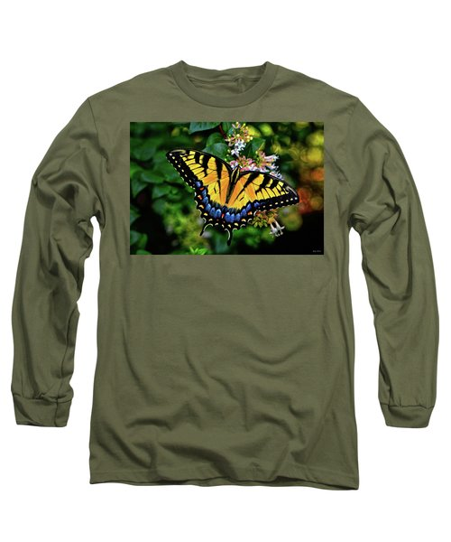 Long Sleeve T-Shirt featuring the photograph Colors Of Nature - Swallowtail Butterfly 003 by George Bostian