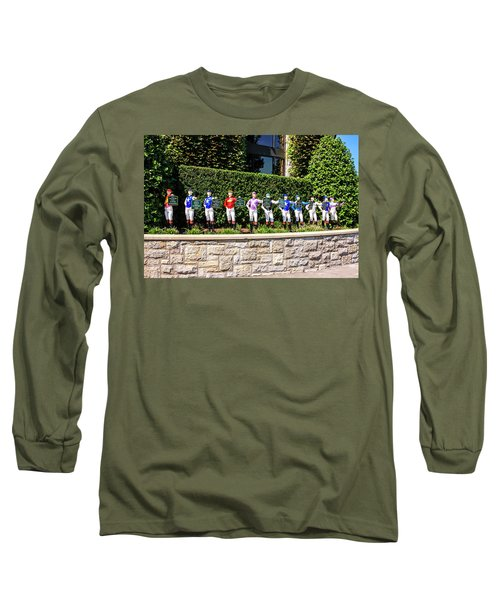 Colors Of Past Stakes At Keeneland Ky Long Sleeve T-Shirt by Chris Smith