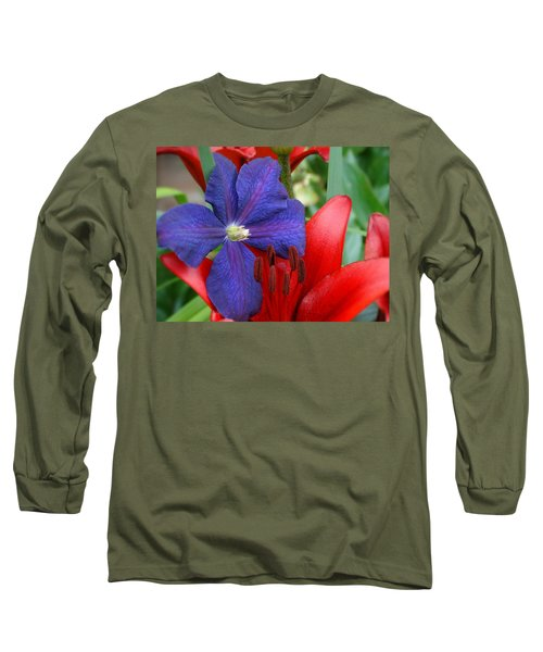 Colors Of Summer Long Sleeve T-Shirt by Rebecca Overton
