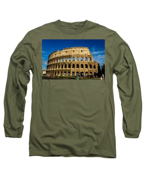 Colosseo Roma Long Sleeve T-Shirt by Rainer Kersten