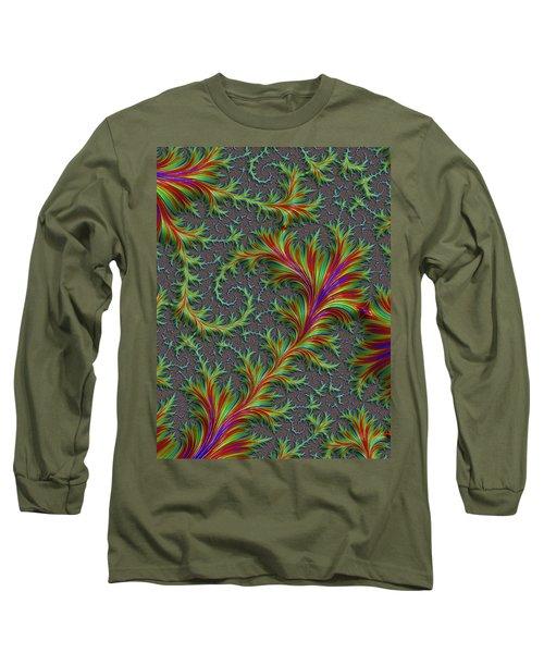 Colourful Fronds Long Sleeve T-Shirt by Rajiv Chopra