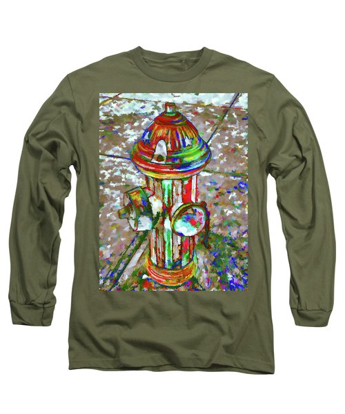 Colourful Hydrant Long Sleeve T-Shirt