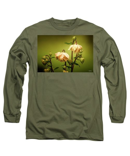 Columbines In Summer Long Sleeve T-Shirt by Skip Tribby