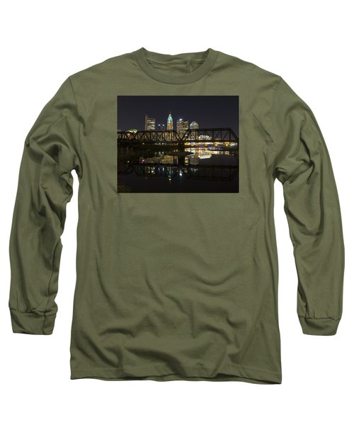 Columbus Skyline Long Sleeve T-Shirt by Alan Raasch