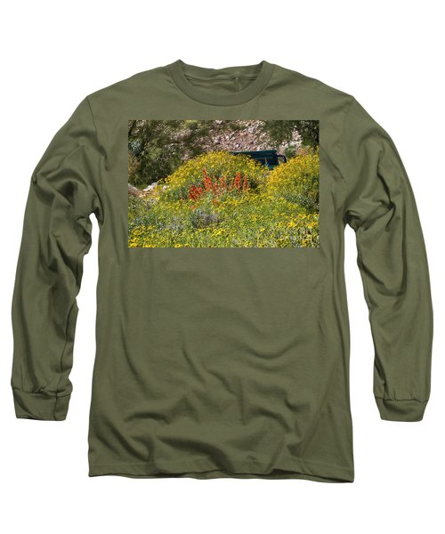 Come Sit Awhile Long Sleeve T-Shirt by Anne Rodkin