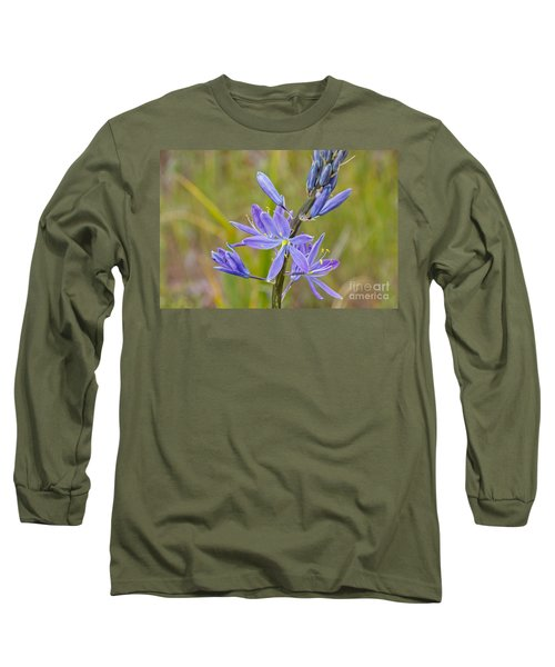 Long Sleeve T-Shirt featuring the photograph Common Camas by Sean Griffin