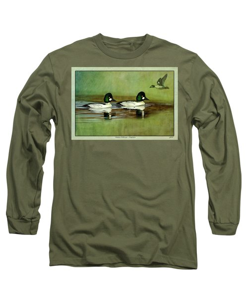 Common Golden-eye Drakes With Flyer Long Sleeve T-Shirt