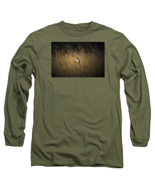 Common Reed Bunting Nov Long Sleeve T-Shirt by Leif Sohlman