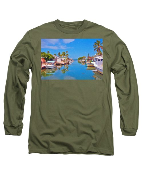 Conch Key Waterfront Living 3 Long Sleeve T-Shirt