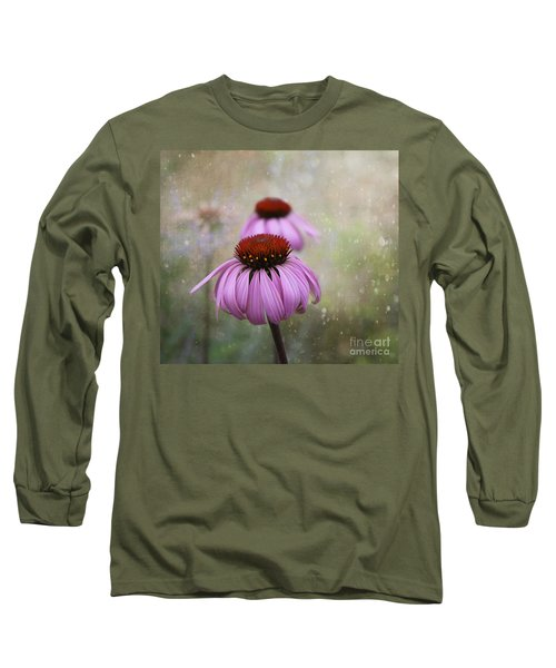 Coneflower Dream Long Sleeve T-Shirt by Nina Silver