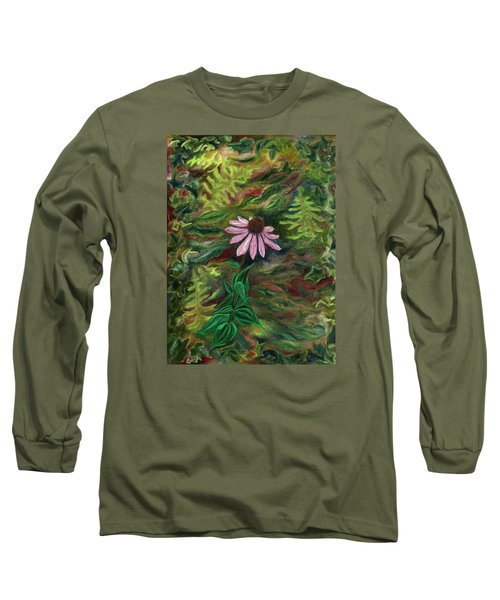 Coneflower Long Sleeve T-Shirt by FT McKinstry