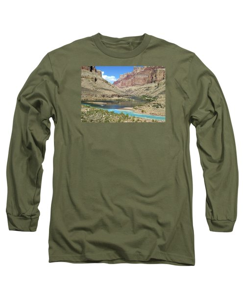 Confluence Of Colorado And Little Colorado Rivers Grand Canyon National Park Long Sleeve T-Shirt