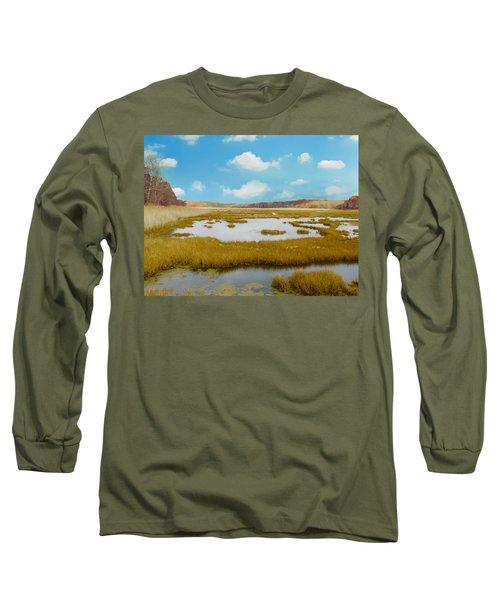 Connecticut Salt Water Marsh Long Sleeve T-Shirt