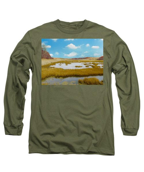 Connecticut Salt Water Marsh Long Sleeve T-Shirt