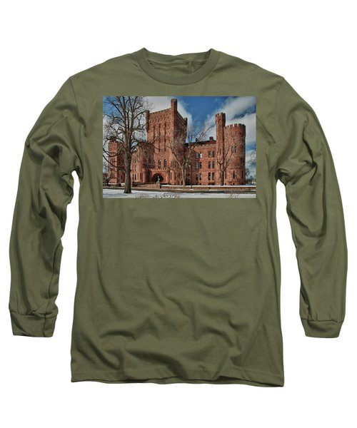 Long Sleeve T-Shirt featuring the photograph Connecticut Street Armory 3997a by Guy Whiteley