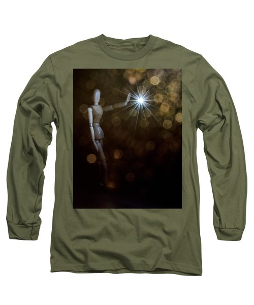 Contact Long Sleeve T-Shirt by Mark Fuller
