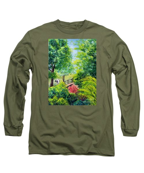 Contentment Long Sleeve T-Shirt by Nancy Cupp