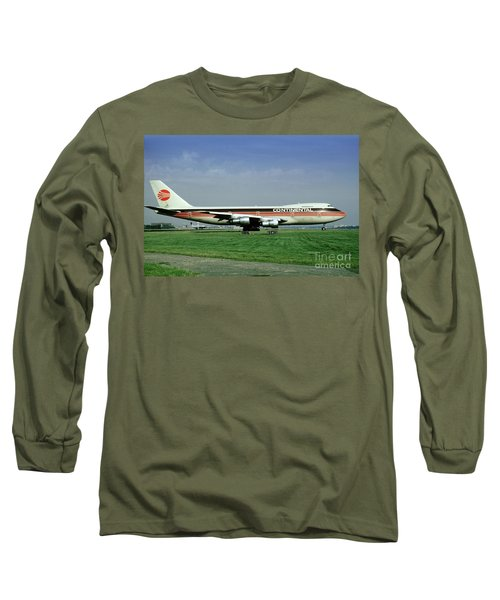 Continental Airlines Boeing 747-243b, N605pe, October 1988 Long Sleeve T-Shirt