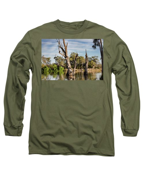 Contrasted Long Sleeve T-Shirt by Douglas Barnard
