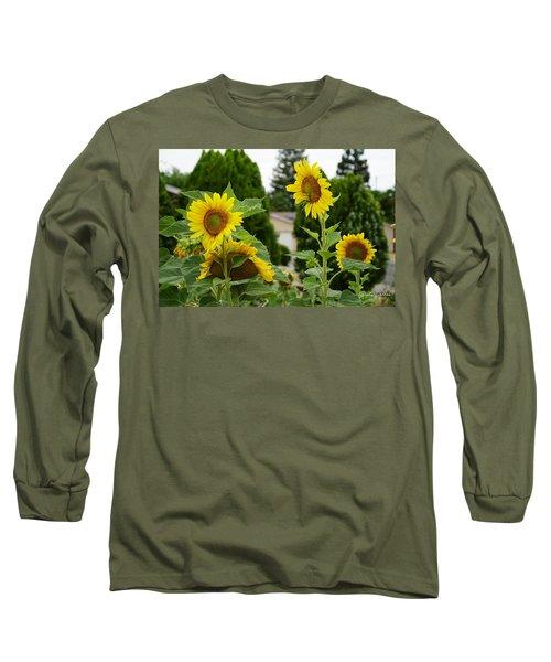Conversing Sunflowers Long Sleeve T-Shirt