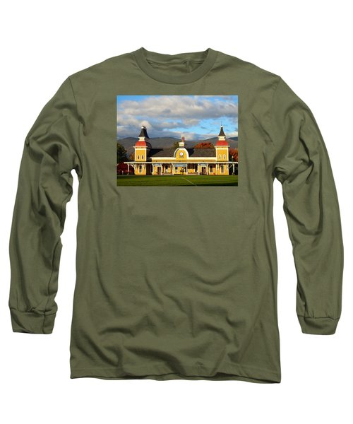 Long Sleeve T-Shirt featuring the photograph Conway Scenic Railroad 1 by Nancy De Flon