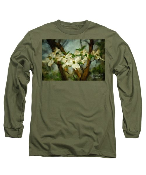 Cool Breeze Painterly Long Sleeve T-Shirt
