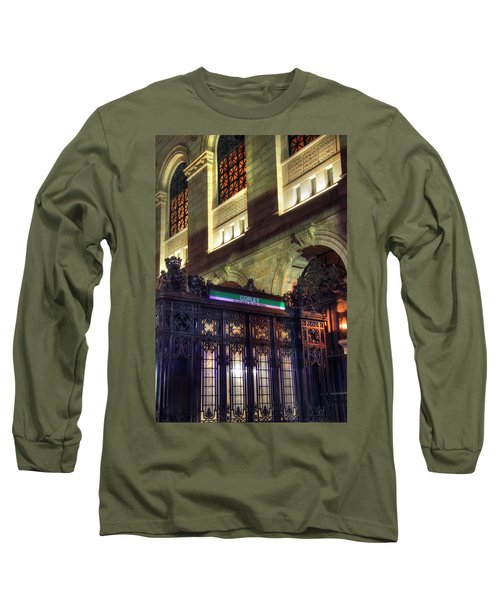 Long Sleeve T-Shirt featuring the photograph Copley Square T Stop - Boston by Joann Vitali