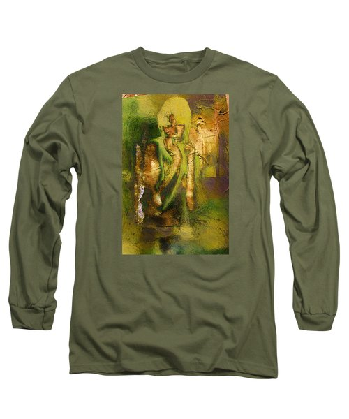 Long Sleeve T-Shirt featuring the digital art Copper Hair by Andrea Barbieri