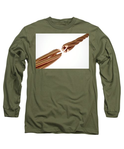 Copper Wire Strands Disconnected Long Sleeve T-Shirt