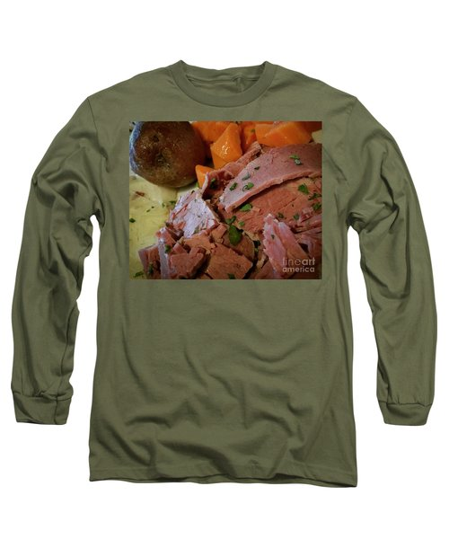 Corn Beef Long Sleeve T-Shirt by Raymond Earley