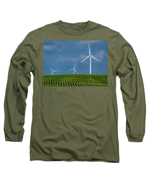 Corn Rows And Windmills Long Sleeve T-Shirt