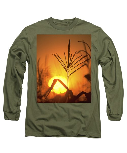 Cornfield Sunset Long Sleeve T-Shirt