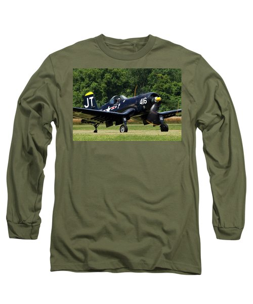 Long Sleeve T-Shirt featuring the photograph Corsair Close-up by Peter Chilelli