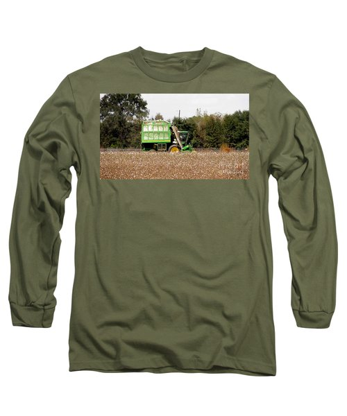 Cotton Picker Long Sleeve T-Shirt by Donna Brown