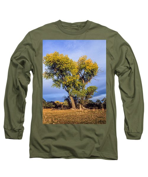 Cottonwood #4 Fall Ranch Colorado Long Sleeve T-Shirt by John Brink