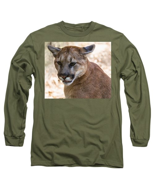 Cougar Portrait Long Sleeve T-Shirt