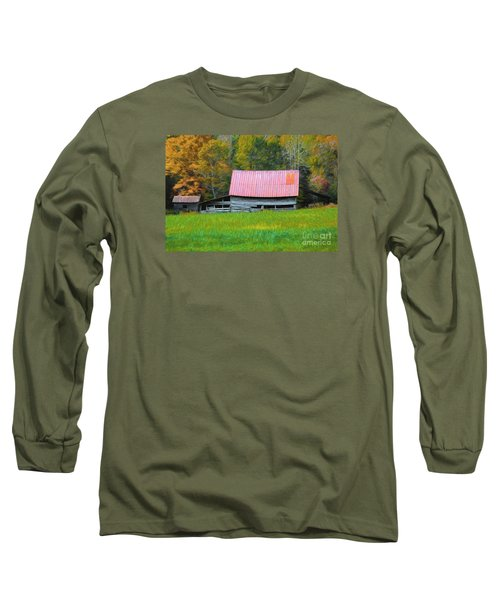 Long Sleeve T-Shirt featuring the photograph Country Autumn  by Marion Johnson
