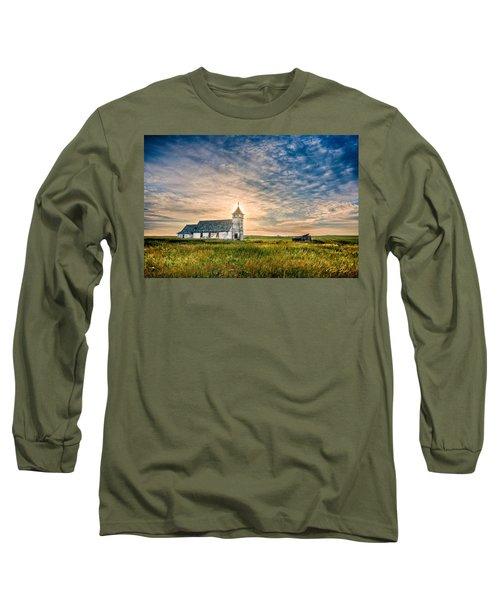 Country Church Sunrise Long Sleeve T-Shirt