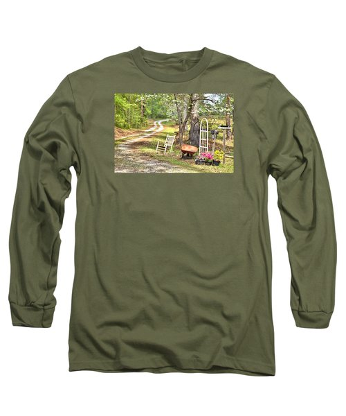 Long Sleeve T-Shirt featuring the photograph Country Driveway In Springtime by Gordon Elwell