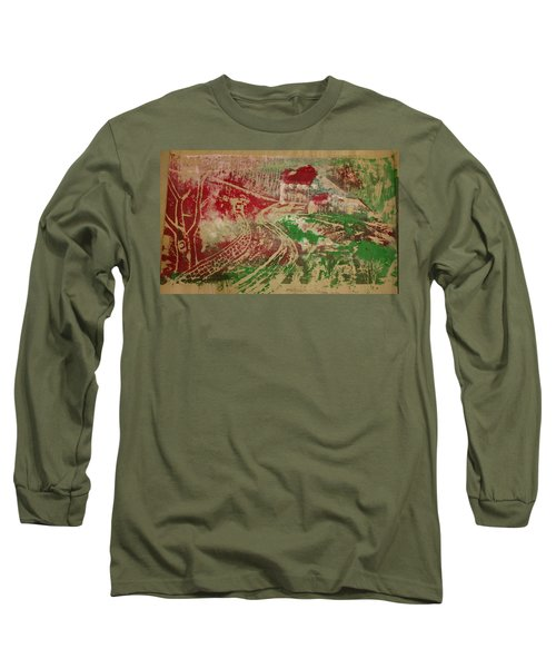 Country Home With Cottage Long Sleeve T-Shirt