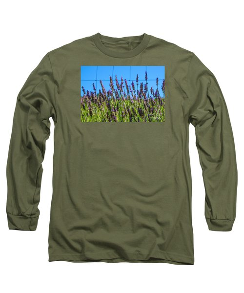 Country Lavender Vii Long Sleeve T-Shirt