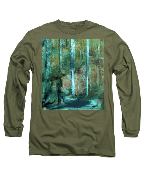 Country Roads - Abstract Landscape Painting Long Sleeve T-Shirt