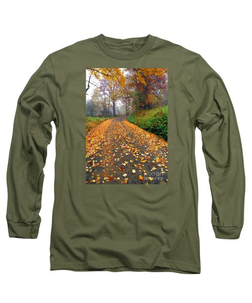 Country Roads Take Me Home Long Sleeve T-Shirt by Thomas R Fletcher