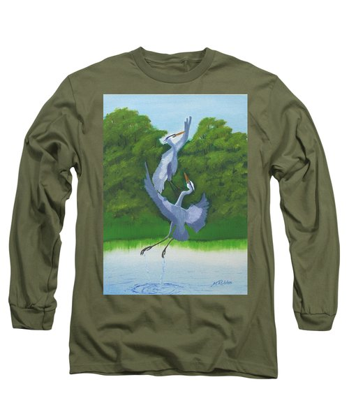 Courtship Dance Long Sleeve T-Shirt by Mike Robles