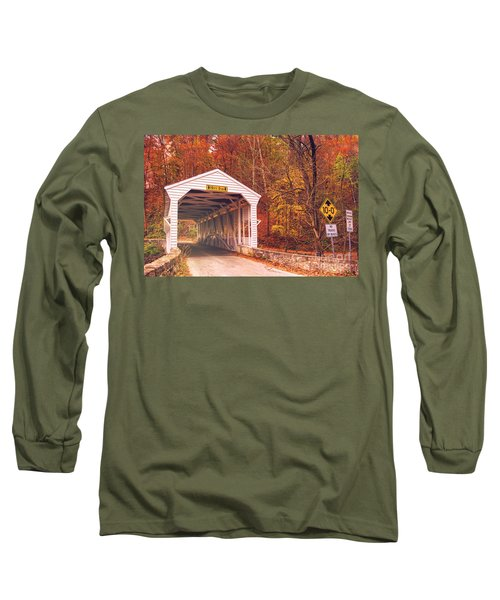Covered Bridge At Valley Forge Long Sleeve T-Shirt