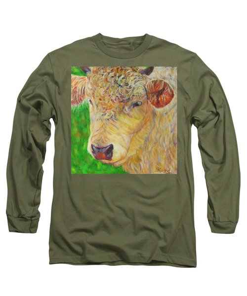 Cute And Curly Cow Long Sleeve T-Shirt