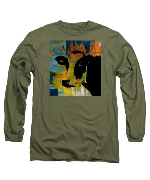 Cow Sunset Rainbow 2 - Poster Print Long Sleeve T-Shirt